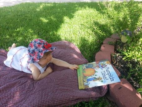 Jessica Lee Anderson's daughter enjoying PUMPKIN TIME